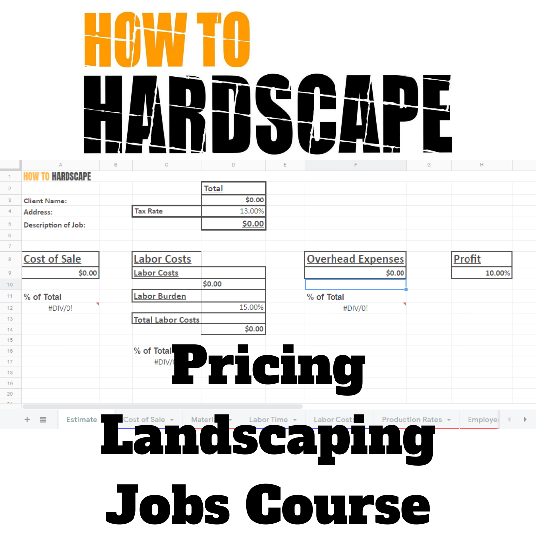Pricing Landscaping Jobs Course